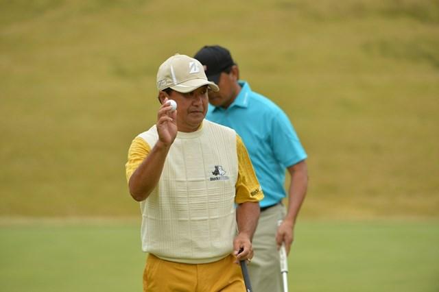 PGA会長、倉本昌弘が通算11アンダーとし、単独首位で決勝ラウンドを迎える ※写真提供:JG A