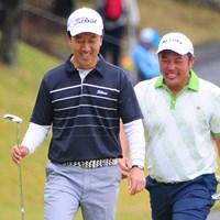 通算12アンダーとした小田龍一(右)とS.K.ホが首位に並んだ 2014年 マイナビABCチャンピオンシップゴルフトーナメント 3日目 小田龍一 S.K.ホ