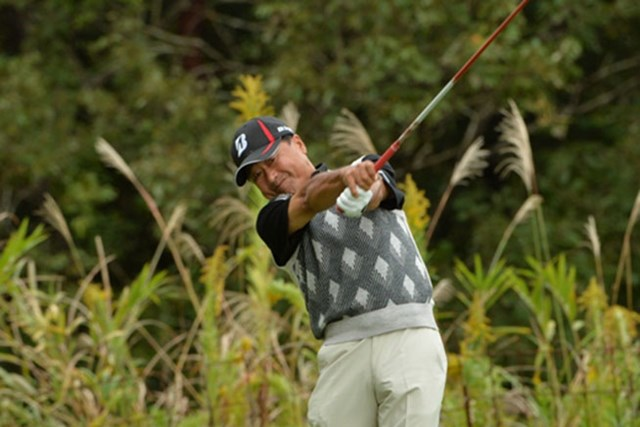 2014年 第24回日本シニアオープンゴルフ選手権競技 3日目 倉本昌弘 追いつかれた倉本昌弘。2度目の大会制覇を目指す(写真提供:JGA)