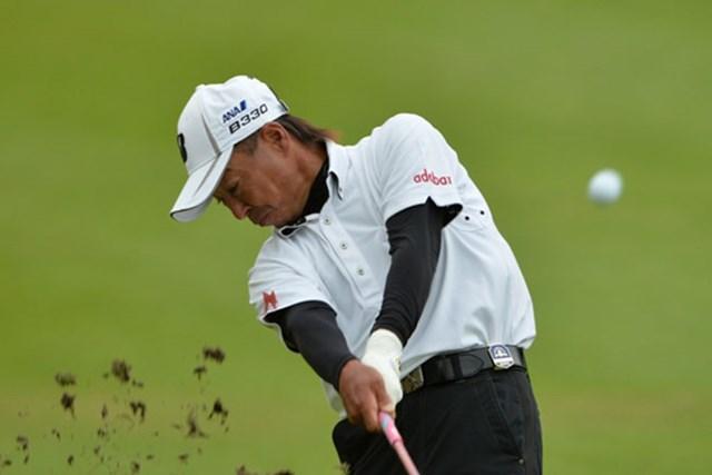 2014年 第24回日本シニアオープンゴルフ選手権競技 3日目 井戸木鴻樹 井戸木鴻樹が通算12アンダーとして首位に並んだ(写真提供:JGA)