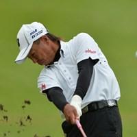 井戸木鴻樹が通算12アンダーとして首位に並んだ(写真提供:JGA) 2014年 第24回日本シニアオープンゴルフ選手権競技 3日目 井戸木鴻樹