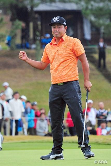 2014年 マイナビABCチャンピオンシップゴルフトーナメント 最終日 谷原秀人 15番でおダリューとともにイーグルを決めた場面は圧巻でした~!終盤の2ホールで躓いて5打差の2位タイ。