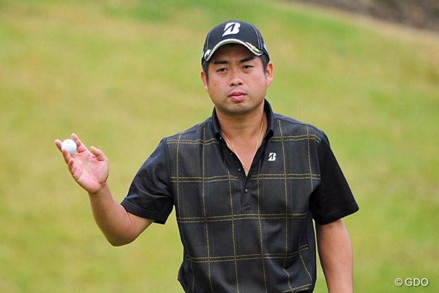 2014年 マイナビABCチャンピオンシップゴルフトーナメント 最終日 池田勇太 オダリューに負けじと発奮したのか、終盤のマクリで6つスコアを伸ばして4位タイ。師匠の貫禄を示しました。