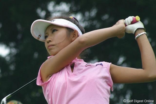 金田久美子 ベストスコア「63」をマークし、単独首位に躍り出たアマチュアの金田久美子