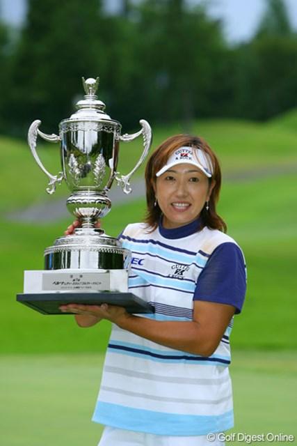金田久美子に貫録勝ちし、国内通算20勝目を達成した福嶋晃子