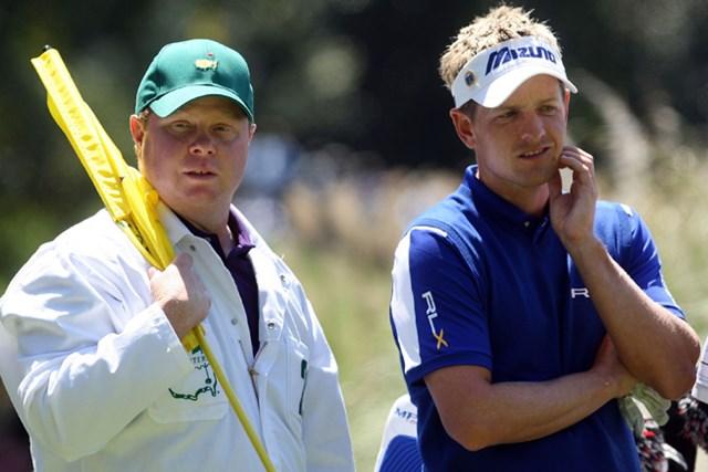 コーチのパット・ゴスとのタッグを復活させたルーク・ドナルド※写真は2009年マスターズ(Andrew Redington/Getty Images)