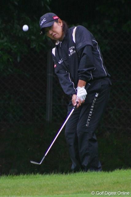 福嶋晃子 この日はショットが乱調気味の福嶋晃子だったが、小技で凌ぎ単独5位フィニッシュ