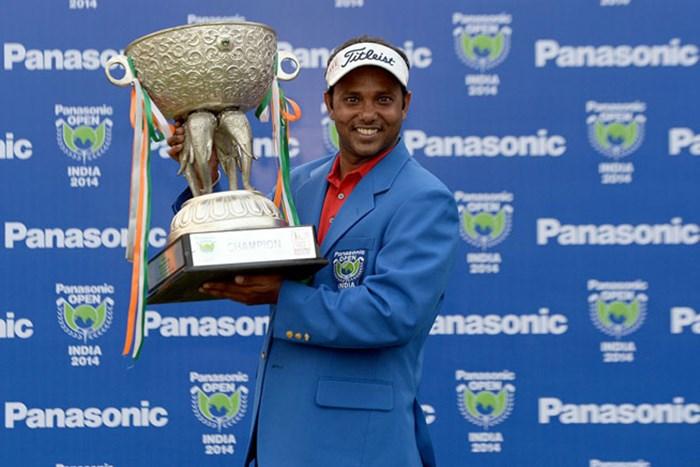 11位から出たS.S.Pチョウラシアが、三つ巴のプレーオフを制し逆転で優勝を飾った※画像提供:アジアンツアー 2014年 パナソニックオープン インディア 最終日 S.S.Pチョウラシア