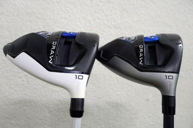 テーラーメイドSLDR-S。左が日本仕様、右がUS仕様、日本のゴルファーは白がお好き?