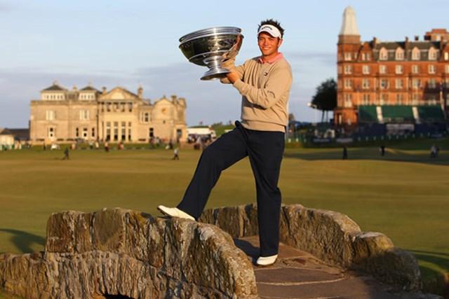 ゴルフの聖地で欧州ツアー2勝目を達成したN.ドハティ(Getty/AFLO)