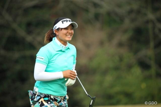 攻撃的なゴルフでバーディを量産し、優勝したいという鈴木愛