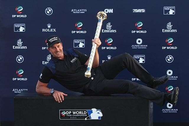 2014年最終戦で今季初優勝を果たしたステンソン。ヨーロピアンツアー3季連続となる優勝だった(Andrew Redington/Getty Images)