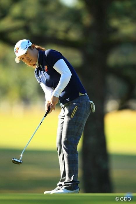 賞金ランキング35位。日医工女子オープン優勝。1オーバー18位タイスタートです 2014年 LPGAツアー選手権リコーカップ 初日 ジョン・ヨンジュ