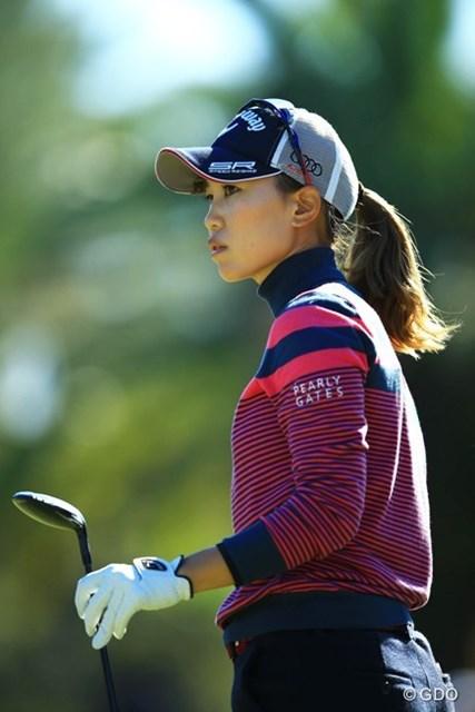 2014年 LPGAツアー選手権リコーカップ 初日 上田桃子 CAT Ladiesで涙の復活優勝。森永レディスで今季2勝目を飾るなど、賞金ランキング10位で出場。1アンダー9位タイスタートです。