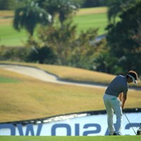 カシオのCのところをチョーン! 2014年 カシオワールドオープンゴルフトーナメント 3日目 額賀辰徳
