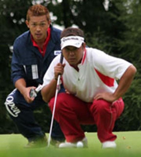 小山内護 いつも、専属キャディの串田雅実さんに支えられている小山内が、今回は大親友のプロをアシストすることになって「俺が優勝させてやる!!」と大張り切りだ。