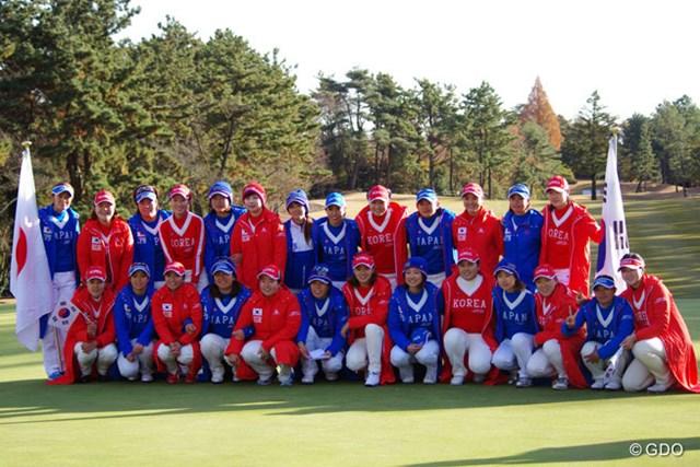 2014年 日韓女子プロゴルフ対抗戦 最終日 日本選抜 韓国選抜 5年ぶりのホーム開催となった日韓対抗戦だったが、日本選抜は韓国に完敗を喫した