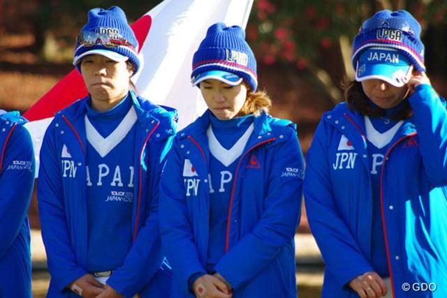 2014年 日韓女子プロゴルフ対抗戦 最終日 上田桃子 後半の自滅で敗戦を喫した上田桃子。表彰式では悔し涙が頬を伝った