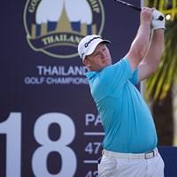 マーカス・フレイザーが4人の並ぶ首位の一角を占めた(アジアンツアー提供) 2014年 タイランドゴルフ選手権 初日 マーカス・フレイザー