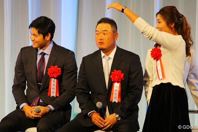 2014年 小田孔明 イ・ボミ 日本ハム・大谷翔平選手、小田孔明の隣で、イ・ボミは来年こそはと賞金女王獲得を誓った