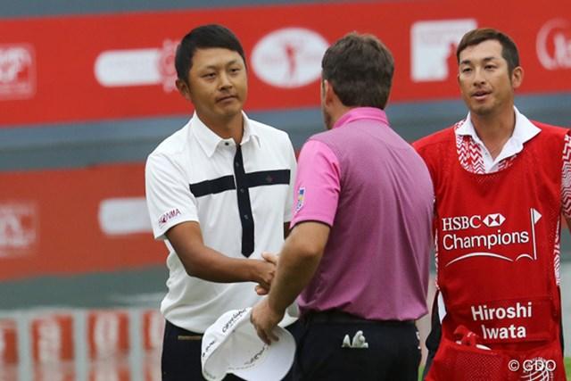 2014年 WGC HSBCチャンピオンズ 最終日 岩田寛 惜しくもWGC初優勝を逃した岩田寛。落胆の色は隠せなかった