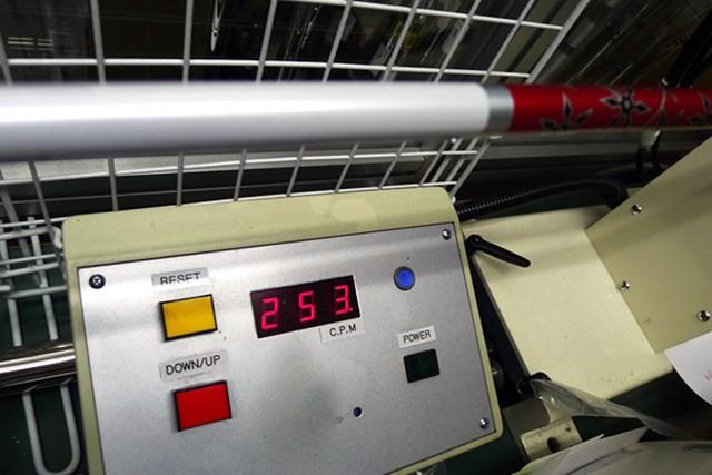 振動数は253cpmと、アフターマーケットのフレックスSとしてはやや柔らかめ