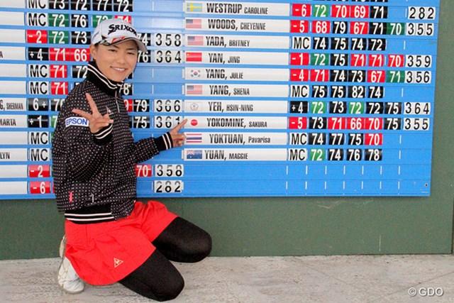2014年 米国女子ファイナルQT 横峯さくら 横峯さくらが初挑戦のQTを11位で突破! 来季のフル参戦を決めた