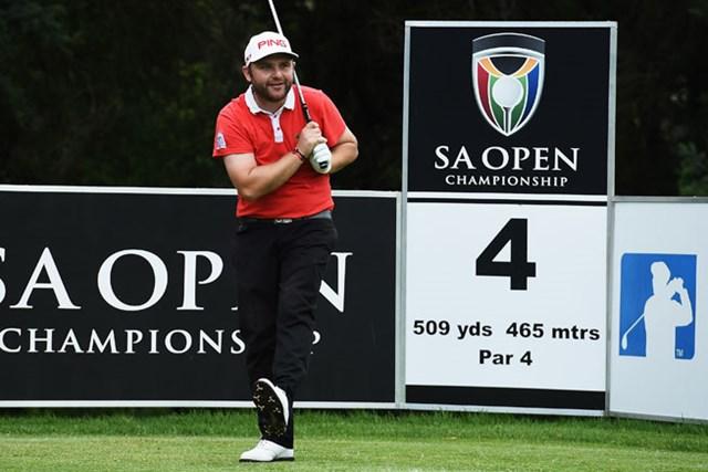 南アフリカ強豪シュワルツェルの追い上げをかわし、1打差首位を堅守したA.サリバン(Stuart Franklin/Getty Images)