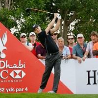 2位に6打差の独走態勢を築いたマルティン・カイマー(Scott Halleran/Getty Images) 2015年 アブダビHSBCゴルフ選手権 3日目 マルティン・カイマー