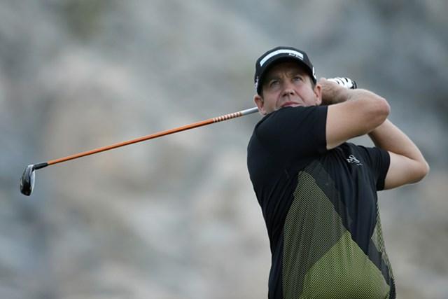 レギュラーツアー初勝利を期待されたコンプトンはティショットに苦しんだ(Jeff Gross/Getty Images)