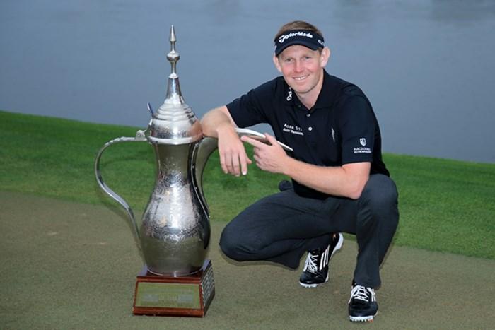 大会3連覇に挑むスコットランドのスティーブン・ギャラハー(David Cannon/Getty Images) 2015年 オメガドバイデザートクラシック 事前 スティーブン・ギャラハー