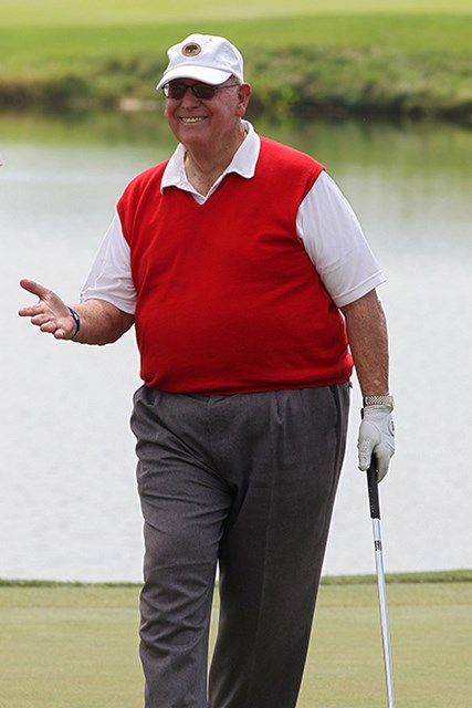 米ツアー通算51勝のビリー・キャスパー氏が死去した。撮影は2010年3M選手権(Michael Cohen/Getty Images)