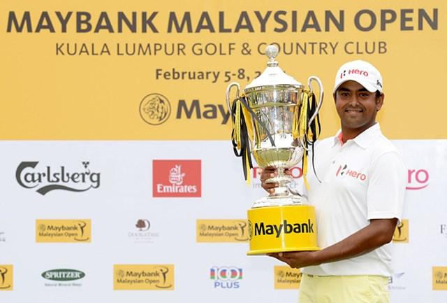 欧州ツアー初優勝を飾ったインドのアニルバン・ラヒリ。アジアンツアーからまた1人、次のステップへ駆け上がった(提供:アジアンツアー)