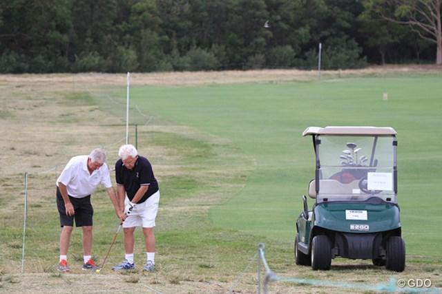 プロアマ戦では視覚障害のあるブラインドゴルファーらもプレーした