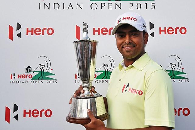 2015年 ヒーローインディアンオープン 最終日 アニルバン・ラヒリ 地元インド勢同士のプレーオフを制したラヒリが今季欧州ツアー2勝目を挙げた(Getty Images)