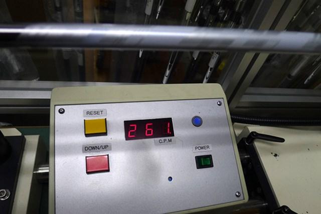 マーク試打 三菱レイヨン KUROKAGE XT 振動数は261cpmと、アフターマーケットのフレックスSにしてはしっかりしている