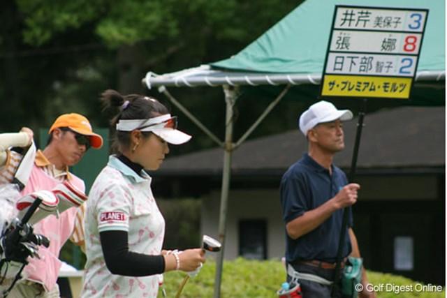 2日間、単独首位をキープ。切れ味鋭いゴルフを続ける張娜(チャン・ナ)
