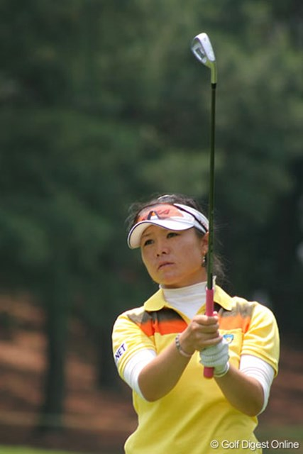 We Love KOBEサントリーレディスオープンゴルフトーナメント1日目 張娜 上位に顔を出す事しばしば。初優勝も近そうな張娜(中国)