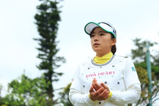 有村智恵は米ロサンゼルスから昨日帰国。雨天の中、9ホールをラウンドした