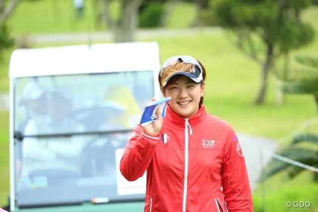 2015年 ダイキンオーキッドレディス 事前 成田美寿々 今年も可愛い笑顔健在!