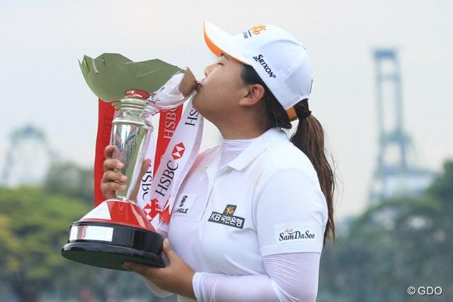 世界ランク2位の朴仁妃が、4日間「ボギー0」の安定したプレーで今季初優勝を果たした