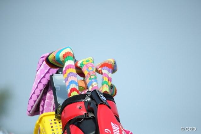2015年 ダイキンオーキッドレディス 最終日 鬼沢信子 かわいいヘッドカバー使ってるんだ。