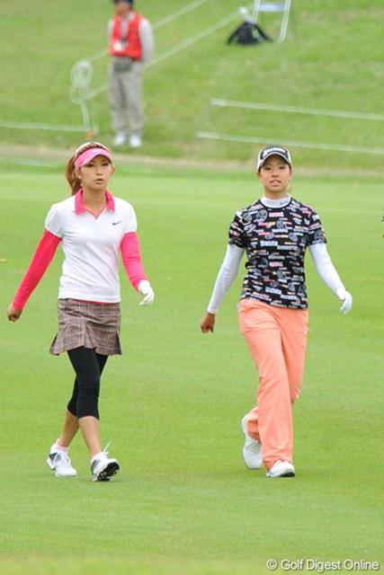 中京テレビ・ブリヂストンレディスオープン最終日 金田久美子&森田理香子 同年代ですが、同組ラウンドは初めてだったそうです