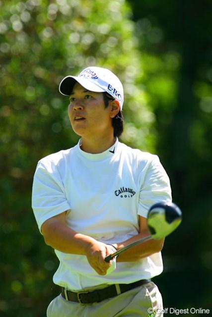 廣済堂レディスゴルフカップ2日目 阿蘇紀子 明日は最終日最終組で、ツアー初勝利に挑む阿蘇紀子