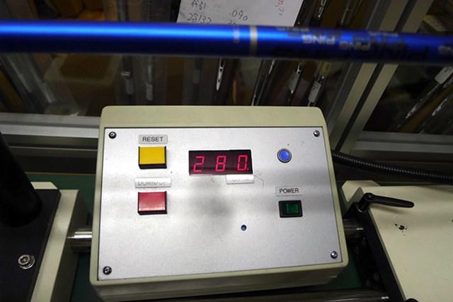 マーク試打 ピン G30 LS TECドライバー シャフト振動数は280cpmと、純正シャフトのSとしては非常に硬く仕上がっている