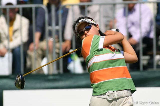 屋島クイーンズゴルフトーナメント最終日 山口千春 過去米ツアーにも挑戦したことがある山口千春が優勝争いに食い込んだ