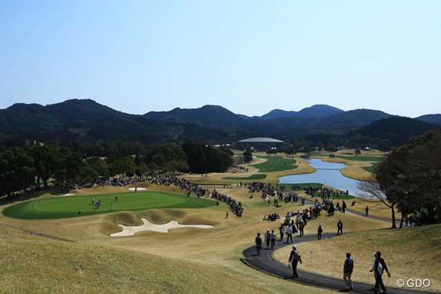 2015年 Tポイントレディス 2日目 若木GC 一度はラウンドしてみたいなぁと思わせるゴルフ場です。