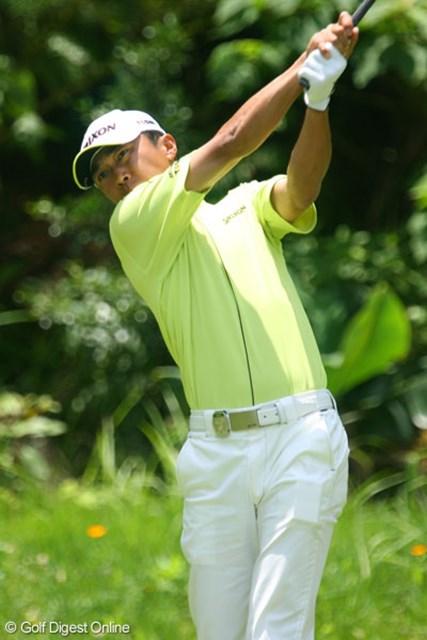 日本プロゴルフ選手権大会3日目 広田悟 中盤、スコアを伸ばし3アンダーの3位タイに浮上した広田悟