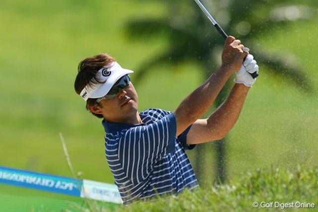 日本プロゴルフ選手権大会2日目 井手口正一 伏兵の井手口正一が1打差の単独2位に浮上した