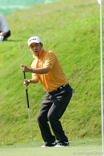 日本プロゴルフ選手権大会2日目 金鍾徳 粘りのゴルフで上位に食い込んでいる金鍾徳